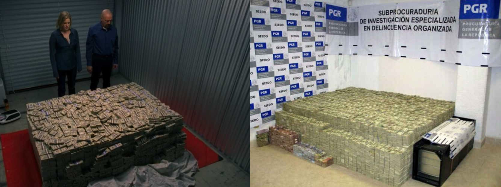 Raid of Mexican Drug Lord   s Mansion Results in Pile of Money That    Drug Lord Mansion